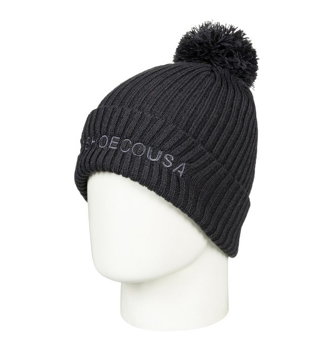 0 Boy's 8-16 Trilogy 2 Pom-Pom Beanie Black EDBHA03024 DC Shoes