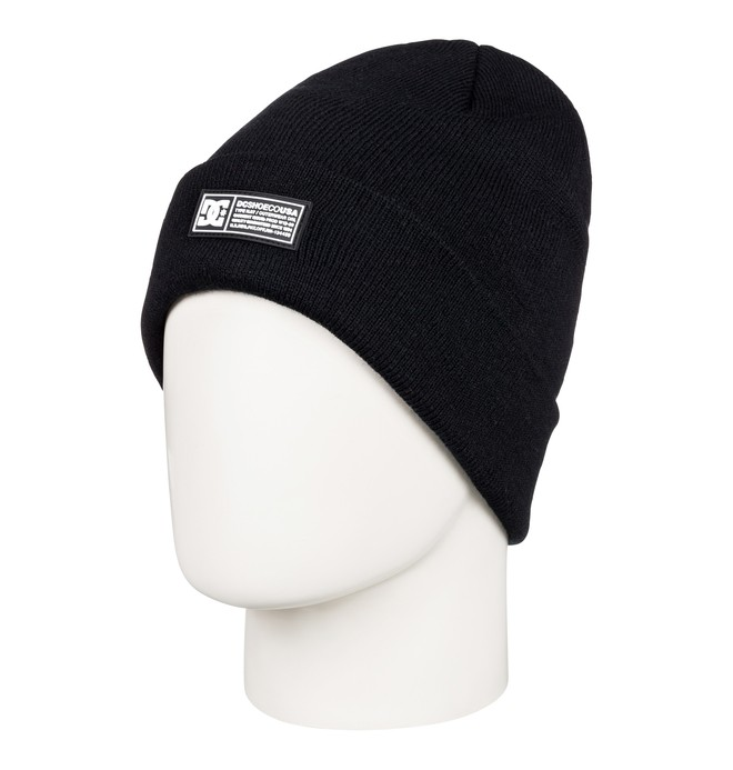 0 Label Cuff Beanie Black EDBHA03027 DC Shoes