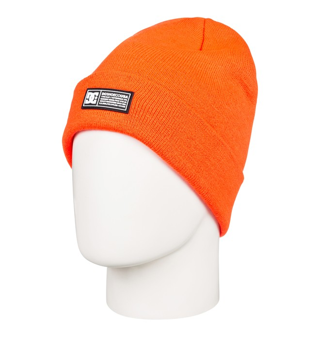 0 Label Cuff Beanie Orange EDBHA03027 DC Shoes