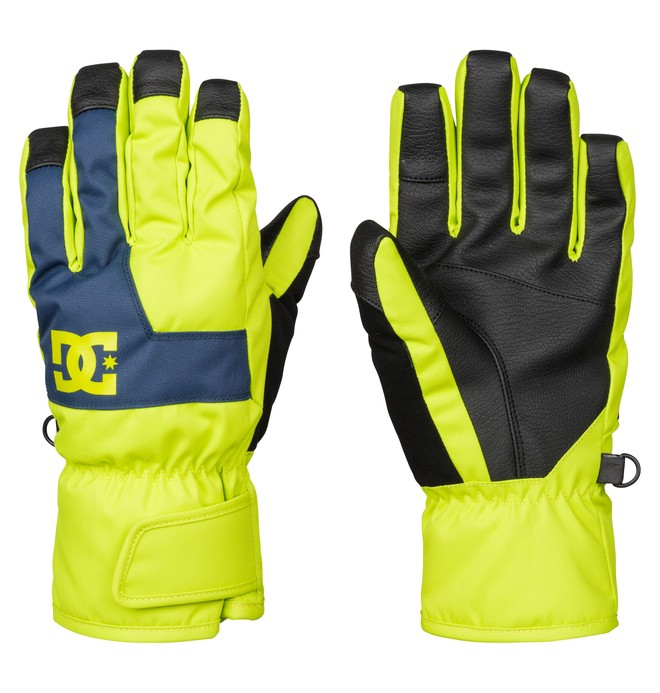 0 Boy's 8-16 Seger Snow Gloves Green EDBHN03003 DC Shoes