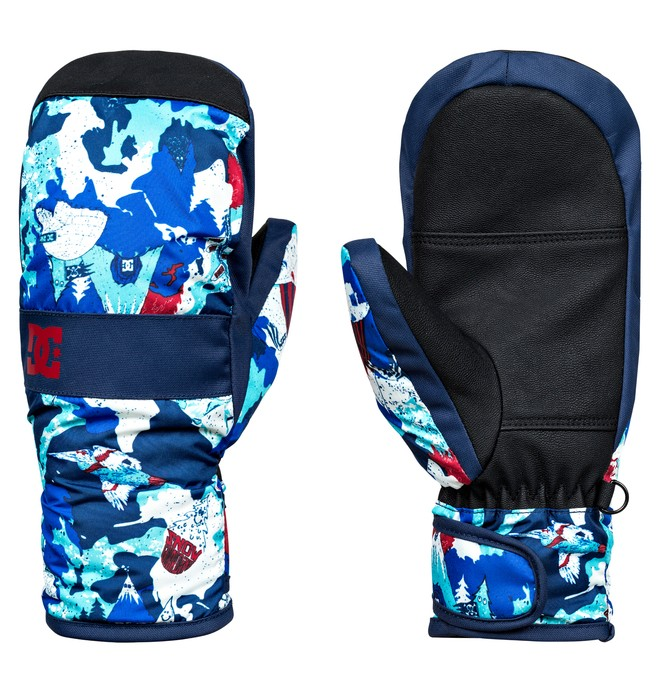 0 Boy's 8-16 Franchise Snow Mittens  EDBHN03006 DC Shoes