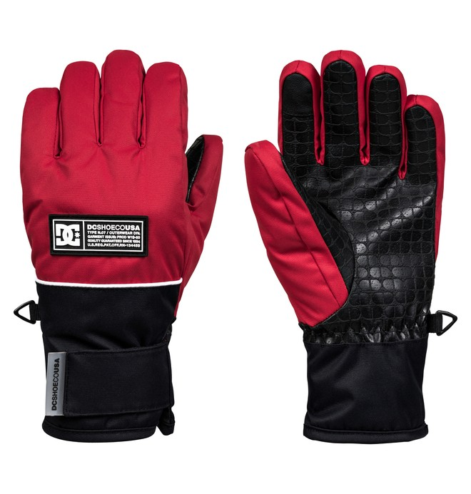 0 Franchise Snowboard/Ski Gloves Red EDBHN03009 DC Shoes