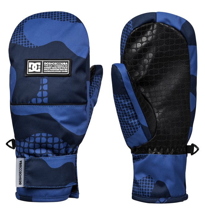 0 Franchise Snowboard/Ski Mittens Blue EDBHN03010 DC Shoes