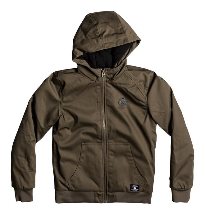 0 Ellis - Hooded Water-Resistant Jacket for Boys 8-16 Beige EDBJK03022 DC Shoes