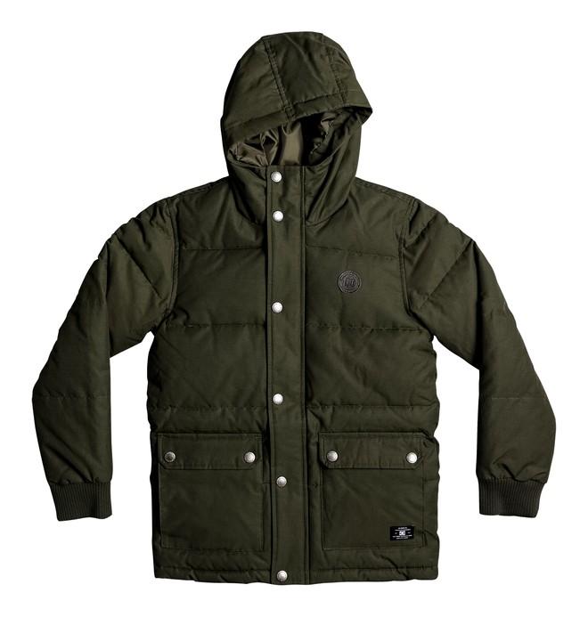 0 Aydon - Padded Hooded Jacket for Boys 8-16 Brown EDBJK03023 DC Shoes