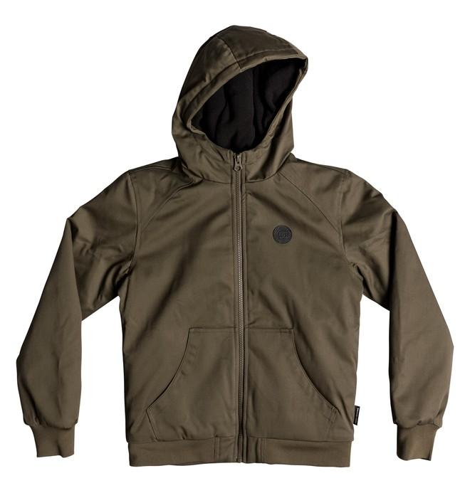 0 Boy's 8-16 Ellis Water Resistant Hooded Jacket Green EDBJK03035 DC Shoes