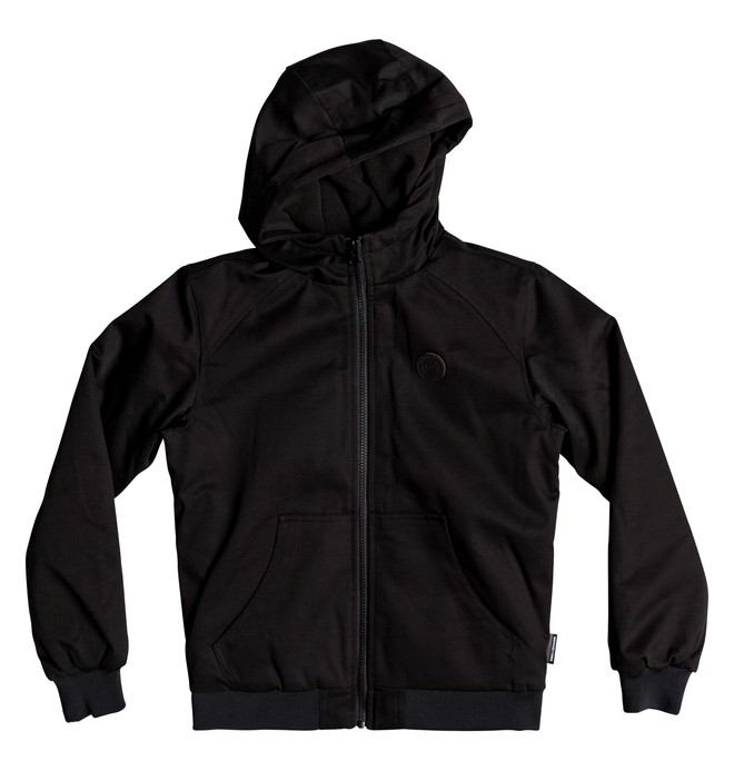 0 Boy's 8-16 Ellis Water Resistant Hooded Jacket Black EDBJK03035 DC Shoes