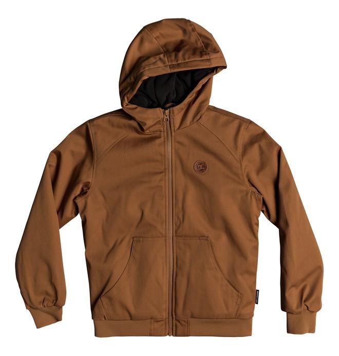 0 Ellis - Water-Resistant Hooded Jacket for Boys 8-16 Orange EDBJK03035 DC Shoes