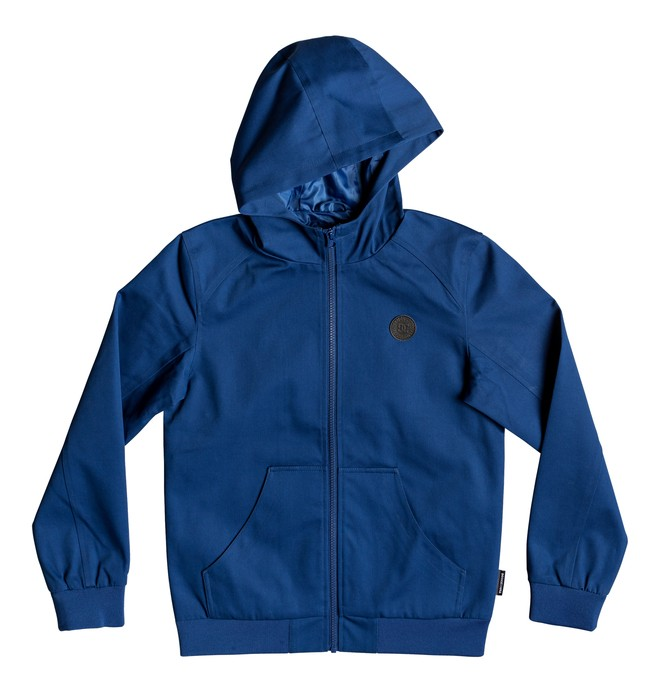 0 Boy's 8-16 Ellis Water-Resistant Hooded Jacket Blue EDBJK03044 DC Shoes