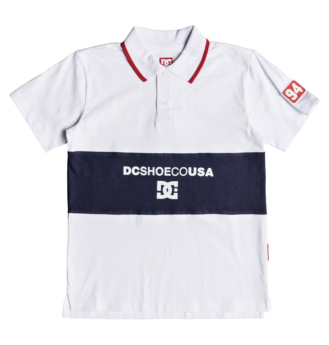 0 Boy's 8-16 Emerson Short Sleeve Polo Shirt White EDBKT03101 DC Shoes