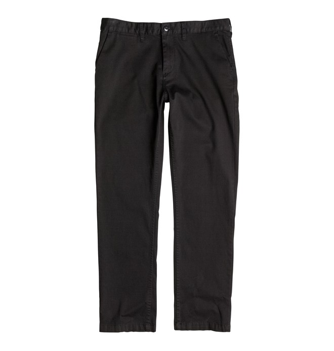 0 Kid's Worker Straight Chinos Black EDBNP03006 DC Shoes