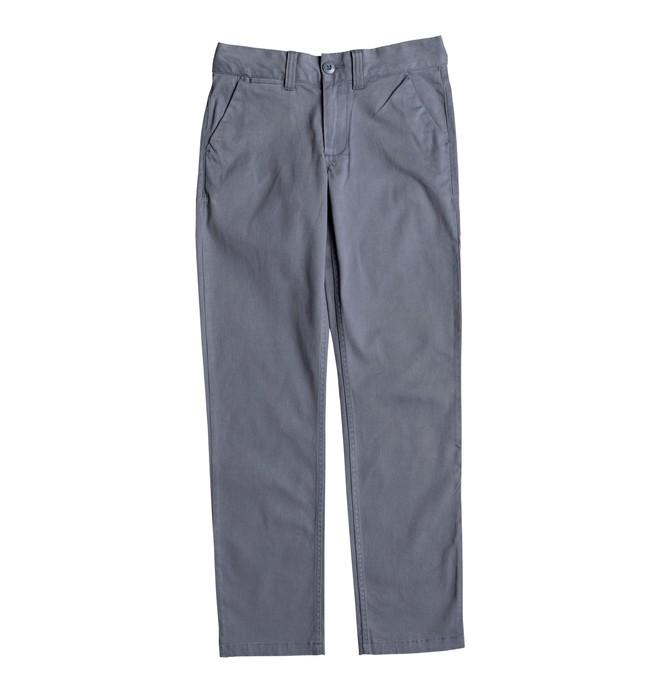 0 Worker - Pantalon chino pour Garçon 8-16 ans Bleu EDBNP03019 DC Shoes
