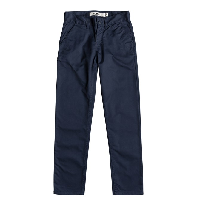 0 Worker - Slim Fit Chinos for Boys 8-16 Blue EDBNP03021 DC Shoes