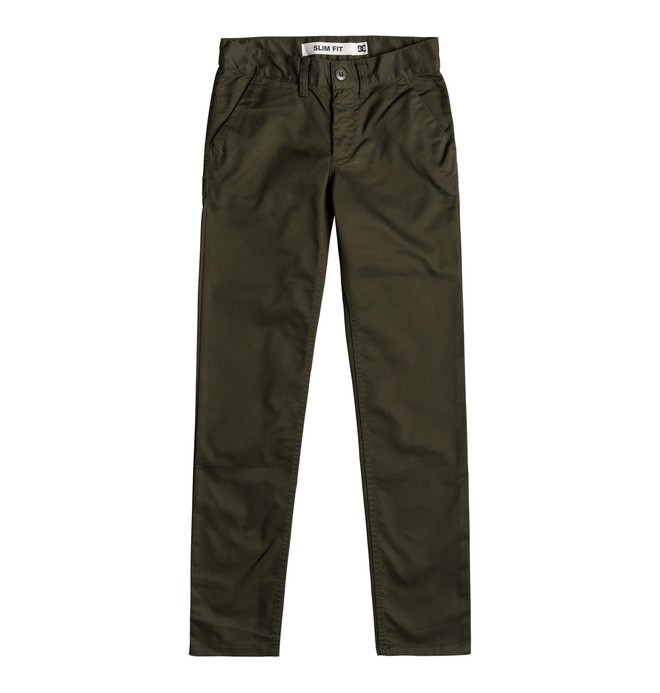 0 Worker - Chinos de corte ajustado para Chicos 8-16 Negro EDBNP03021 DC Shoes