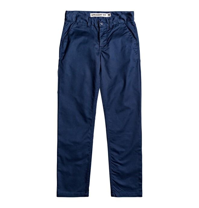 0 Worker - Pantalón chino de corte recto para Chicos 8-16 Azul EDBNP03022 DC Shoes