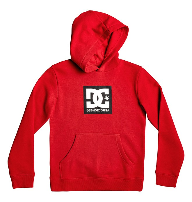 0 Boy's 8-16 Square Star Hoodie Red EDBSF03090 DC Shoes