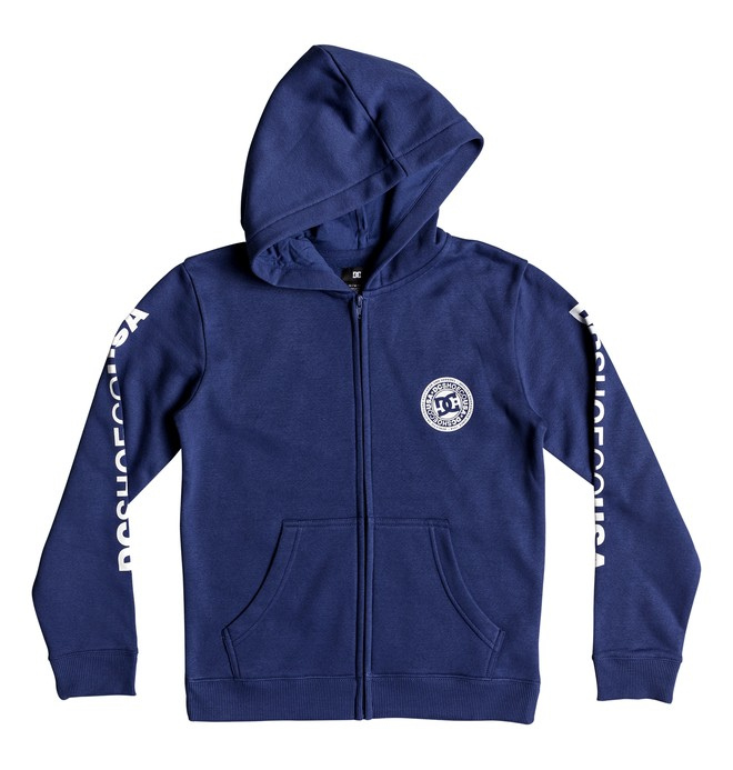 0 Boy's 8-16 Circle Star Zip-Up Hoodie Blue EDBSF03091 DC Shoes
