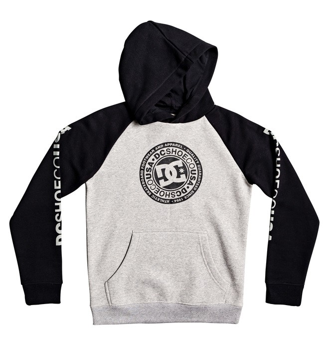 0 Boy's 8-16 Circle Star Hoodie Grey EDBSF03094 DC Shoes
