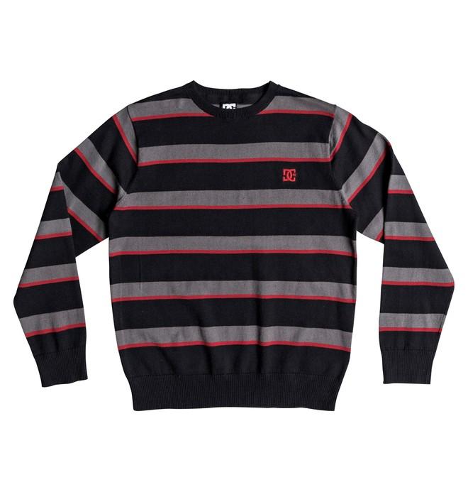 0 Sabotage Stripe - Pull col rond pour Garçon 8-16 ans Noir EDBSW03014 DC Shoes