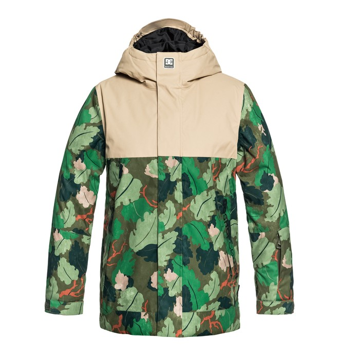 0 Boy's 8-16 Defy Snow Jacket Green EDBTJ03022 DC Shoes