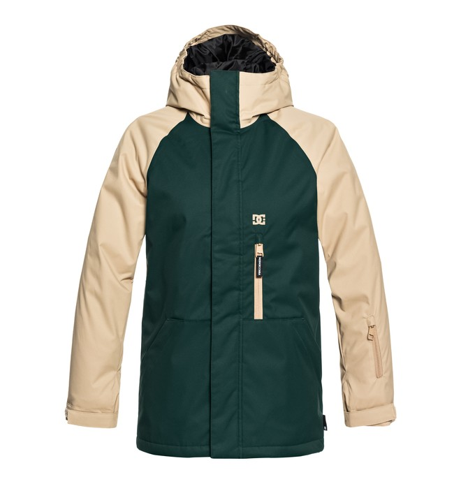 0 Boy's 8-16 Ripley Snow Jacket Green EDBTJ03024 DC Shoes