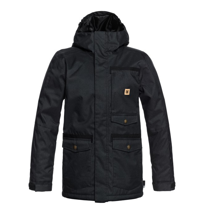0 Boy's 8-16 Servo Snow Jacket Black EDBTJ03026 DC Shoes