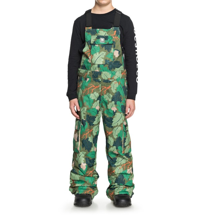 0 Banshee - Snow Bib Pants for Boys 8-16 Green EDBTP03007 DC Shoes