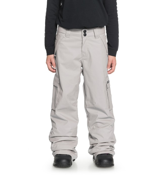 0 Boy's 8-16 Banshee Snow Pants Grey EDBTP03009 DC Shoes