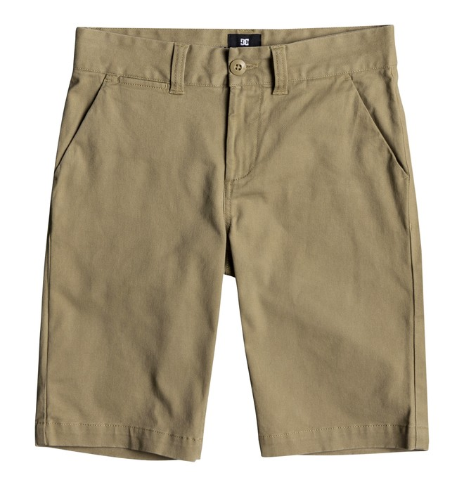 0 Boy's 8-16 Worker Chino Shorts Brown EDBWS03045 DC Shoes