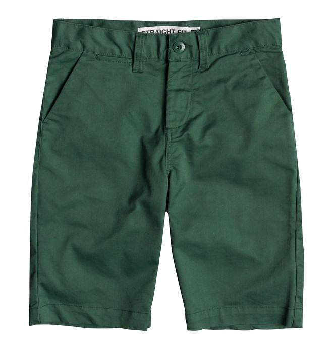"0 Worker 18.5"" - Short Chino para Chicos 8-16 Verde EDBWS03052 DC Shoes"