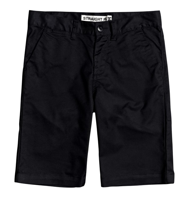 "0 Worker 18.5"" - Chino Short voor Jongens 8-16 Black EDBWS03052 DC Shoes"