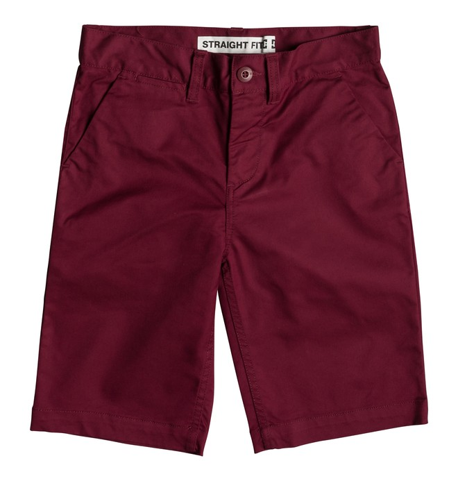"0 Worker 18.5"" - Short Chino para Chicos 8-16 Rojo EDBWS03052 DC Shoes"