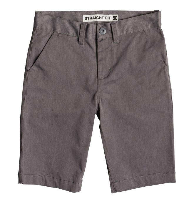 "0 Worker Heather 18.5"" - Short chino pour garçon 8-16 ans Noir EDBWS03061 DC Shoes"