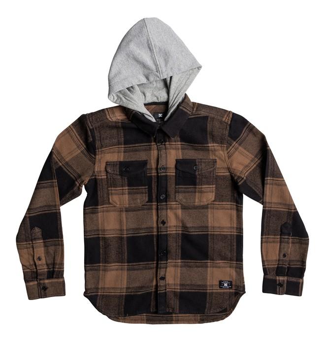0 Kid's Runnel Long Sleeve Shirt Brown EDBWT03033 DC Shoes