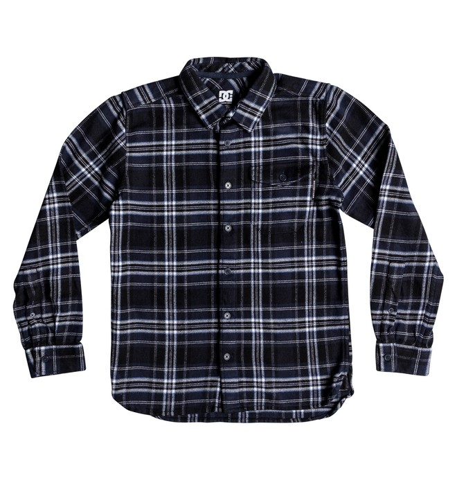 0 Boy's 8-16 Marsha Long Sleeve Flannel Shirt  EDBWT03047 DC Shoes