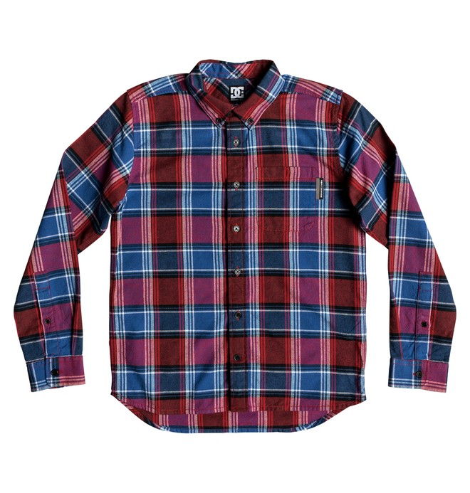 0 Boy's 8-16 Northboat Long Sleeve Shirt Red EDBWT03049 DC Shoes
