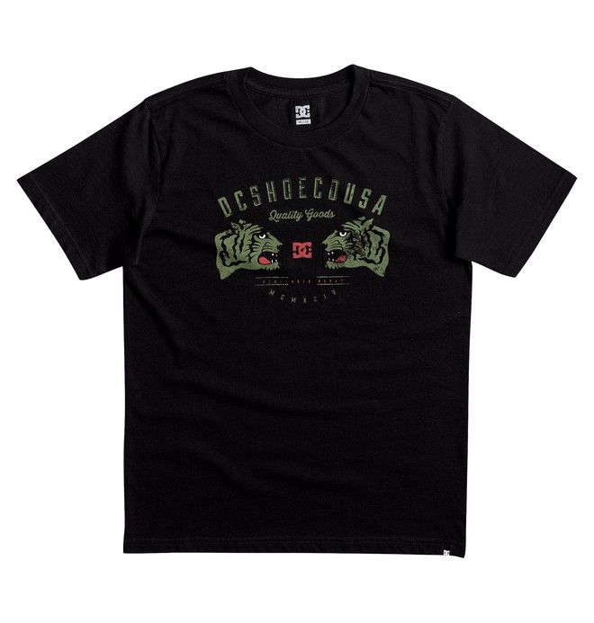 0 Kid's Surrender Never Tee Black EDBZT03242 DC Shoes