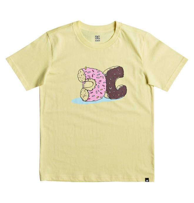 0 Donut Crush - T Shirt col rond pour Garçon 8-16 ans Jaune EDBZT03262 DC Shoes