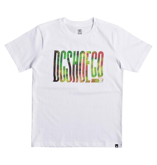 0 Trippy Typed - T Shirt col rond pour Garçon 8-16 ans Blanc EDBZT03272 DC Shoes