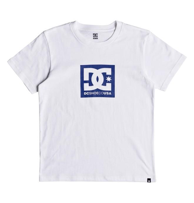 0 Square Star - T-shirt col rond pour Garçon 8-16 ans Blanc EDBZT03281 DC Shoes
