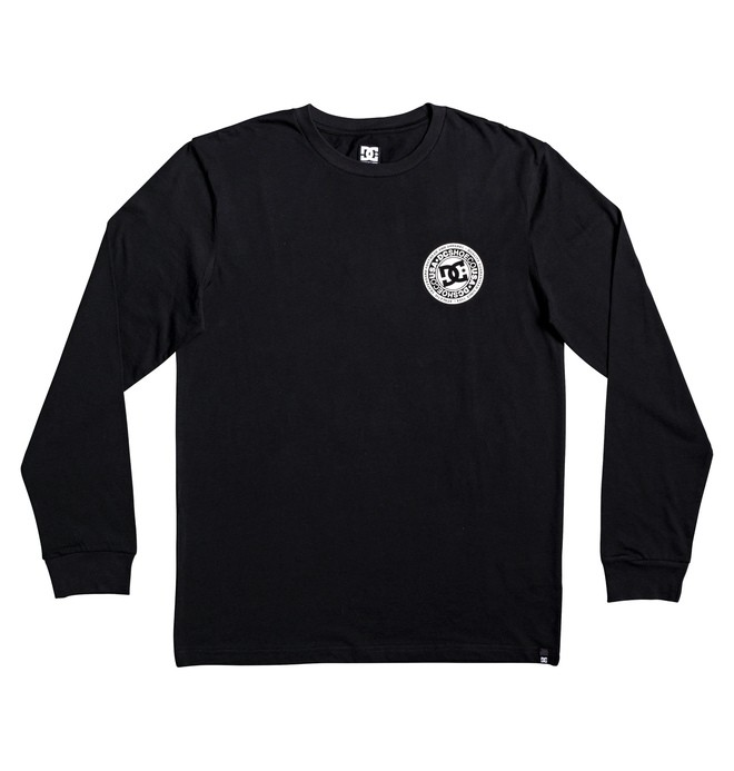 0 Boy's 8-16 Circle Star Long Sleeve Tee Black EDBZT03283 DC Shoes