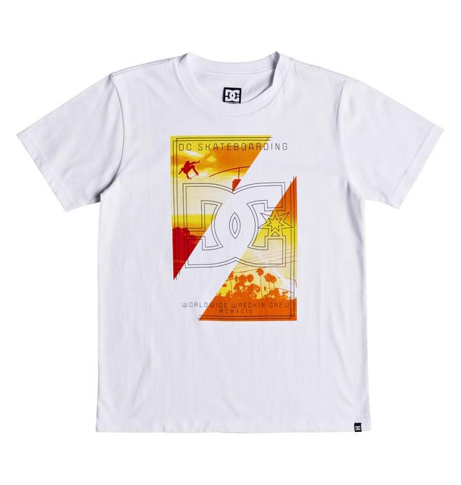 0 Dany Palm - T-shirt col rond pour Garçon 8-16 ans Blanc EDBZT03286 DC Shoes