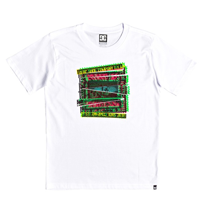 0 Boy's 8-16 Slauson Tee White EDBZT03305 DC Shoes