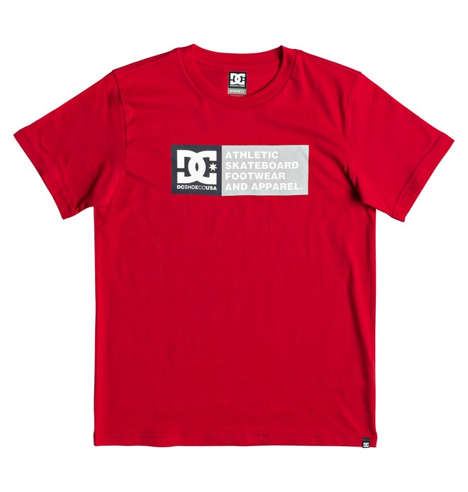 0 Boy's 8-16 Vertical Zone Tee Red EDBZT03316 DC Shoes