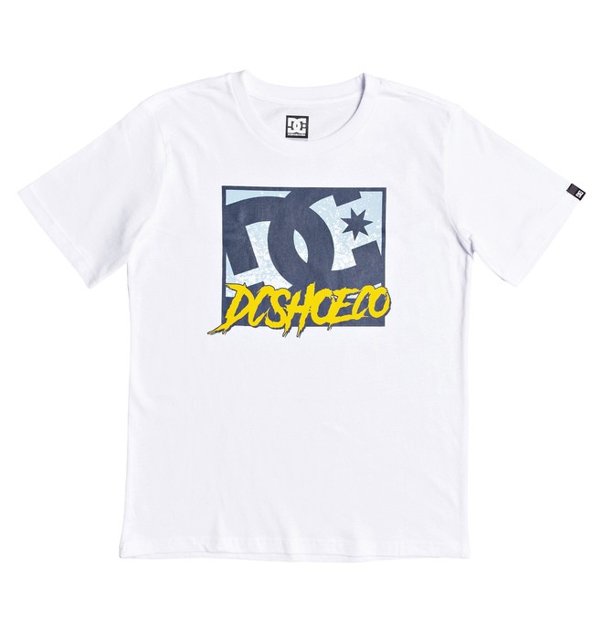 0 Boy's 8-16 Window Down Tee White EDBZT03327 DC Shoes