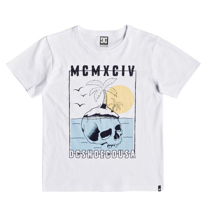 0 Skulland - Camiseta para Chicos 8-16 Blanco EDBZT03329 DC Shoes