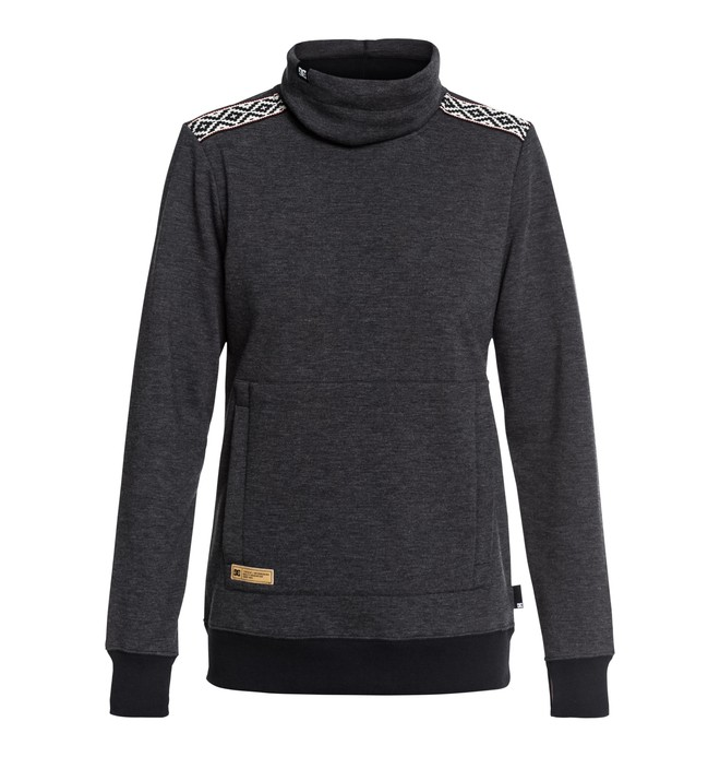 0 Women's Veneer Technical Roll Neck Sweatshirt  EDJFT03059 DC Shoes