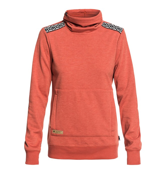 0 Veneer - Sweat technique à col roulé pour Femme Rose EDJFT03059 DC Shoes