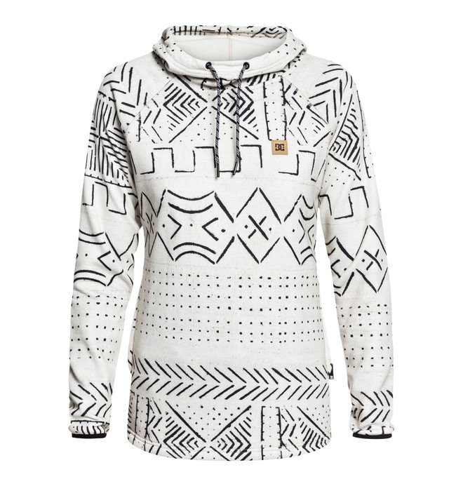 0 Salem - Sweat à capuche technique pour Femme Blanc EDJFT03060 DC Shoes