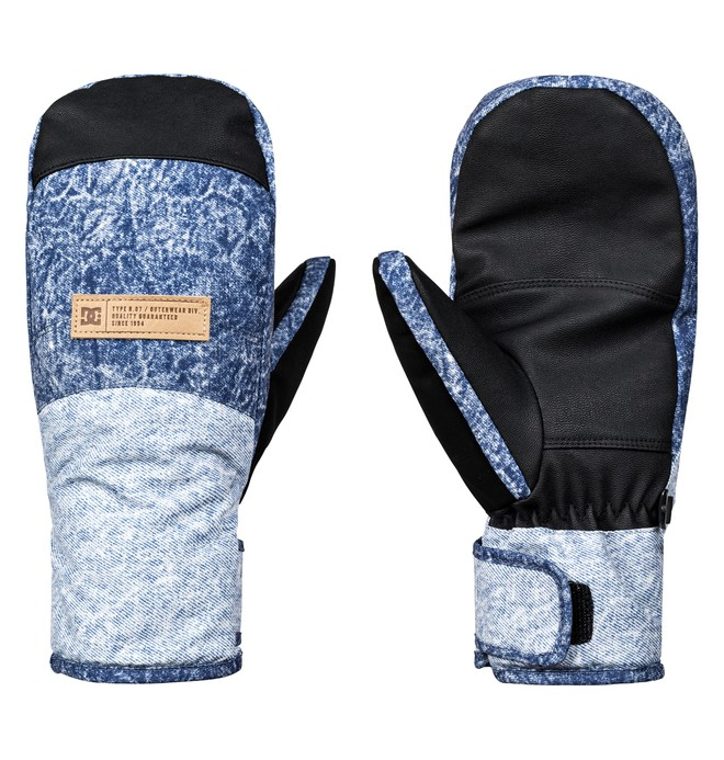 0 Franchise - Ski/Snowboard Mittens for Women Blue EDJHN03011 DC Shoes